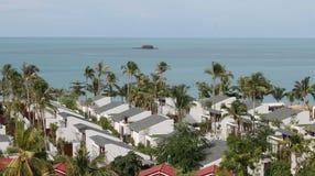 Vues scéniques des paysages avec les éléments architecturaux en Koh Samui Images libres de droits