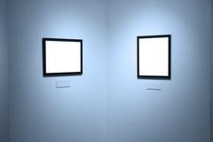 Vues sur le mur blanc dans le Musée d'Art Photographie stock libre de droits