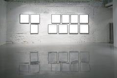 Vues sur le mur de briques blanc Photographie stock libre de droits