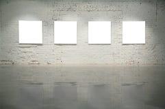 Vues sur le mur de briques blanc Photo libre de droits