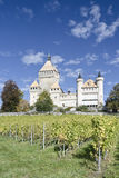 Vufflens Castle. Front view Vufflens Castle, located in the city of Vaud, Switzerland Stock Image