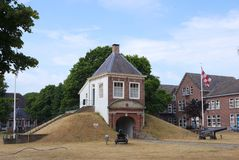 Fort Isabella in Vught, the Netherlands. Vught, the Netherlands. July 2018. Fort Isabella in Vught, former military barracks and fortress royalty free stock image