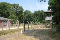 Herzogenbusch or Camp Vught concentration camp in the Netherlands. Vught, the Netherlands. July 2018. Herzogenbusch concentration camp Dutch: National Monument Stock Photos