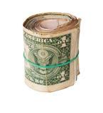 Vuil broodje van de dollars van Verenigde Staten Stock Afbeeldingen