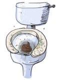 Vuil geïsoleerd toilet Vector illustratie stock illustratie