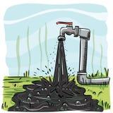 Vuil leidingwater vector illustratie