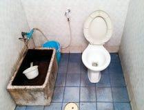 Vuil openbaar toilet Royalty-vrije Stock Foto