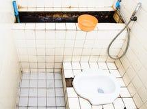 Vuil toilet Royalty-vrije Stock Fotografie
