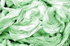 Vuil verfrommeld pvc in groene toon royalty-vrije stock afbeeldingen