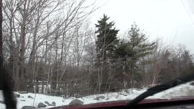 Vuil windschild stock footage