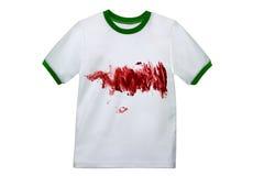 Vuil Wit Overhemd Stock Fotografie