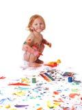 Vuile baby Royalty-vrije Stock Afbeeldingen