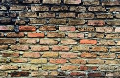 Vuile bakstenen muur Royalty-vrije Stock Afbeeldingen