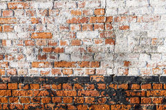 Vuile bakstenen muur Royalty-vrije Stock Fotografie