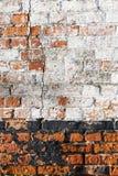 Vuile bakstenen muur Stock Afbeelding