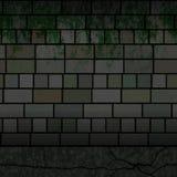 Vuile bakstenen muurtextuur royalty-vrije illustratie