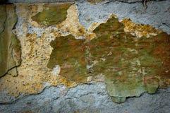 Vuile beschadigde roestige muur royalty-vrije stock afbeelding
