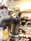 Vuile bougie van een de invoerauto Stock Foto's