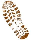 Vuile Bruine gedetailleerde ShoePrint Royalty-vrije Stock Fotografie