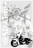 Vuile de afficheachtergrond van Motocycle Royalty-vrije Stock Fotografie