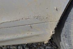 Vuile drempels ongewassen auto stock fotografie