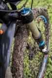 Vuile fiets Stock Afbeelding