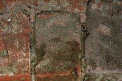Vuile gebroken muur zeer dicht stock afbeelding