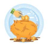 Vuile geld bedrijfsillustratie Royalty-vrije Stock Foto's