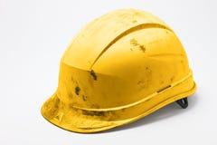 Vuile gele bouwvakker Stock Fotografie
