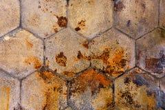 Vuile grunge bedekte voetpadtextuur stock afbeelding