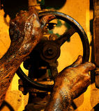 Vuile handen Stock Afbeelding