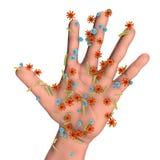 Vuile handen, conceptueel beeld vector illustratie