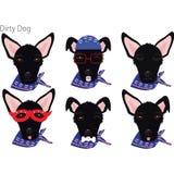 Vuile Honden vector illustratie