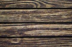 Vuile houten achtergrond Natuurlijke houten textuur met horizontale lijnen Stock Fotografie