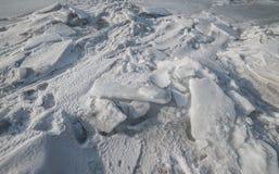 Vuile ijs en sneeuw Stock Foto's