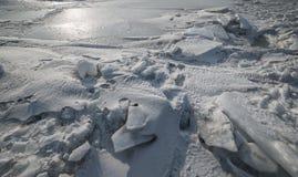 Vuile ijs en sneeuw Stock Afbeeldingen