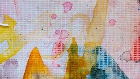 Vuile Kleur Art Paint On Cloth stock afbeeldingen