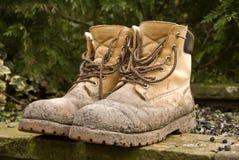 Vuile laarzen Royalty-vrije Stock Fotografie