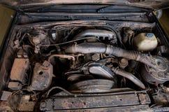 Vuile motor van een auto Stock Afbeelding