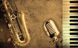 Vuile muziekachtergrond Royalty-vrije Stock Afbeelding
