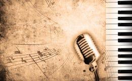 Vuile muziekachtergrond Stock Afbeelding
