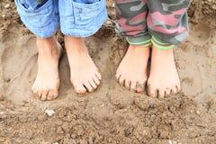 Vuile naakte voeten Stock Fotografie
