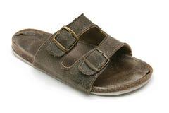 Vuile oude pantoffel Royalty-vrije Stock Foto