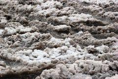 Vuile slushy sneeuw bij wintertijd Royalty-vrije Stock Afbeelding