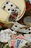 Vuile speelkaarten Royalty-vrije Stock Foto's