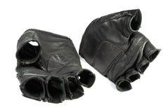 Vuile sportieve geïsoleerdeo handschoenen royalty-vrije stock fotografie