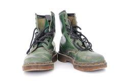 Vuile uitgeputte schoenen Royalty-vrije Stock Foto's
