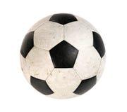 Vuile voetbalbal stock foto