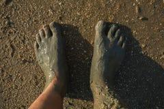 Vuile voeten Stock Afbeeldingen