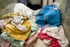Vuile wasserij stock afbeeldingen